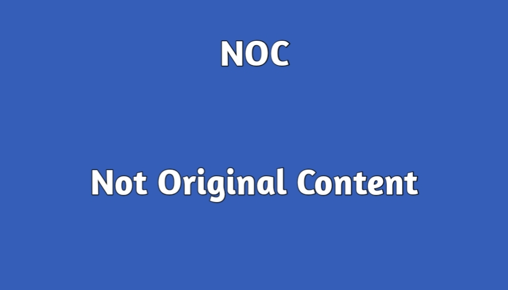 Noc full form - noc meaning in meme