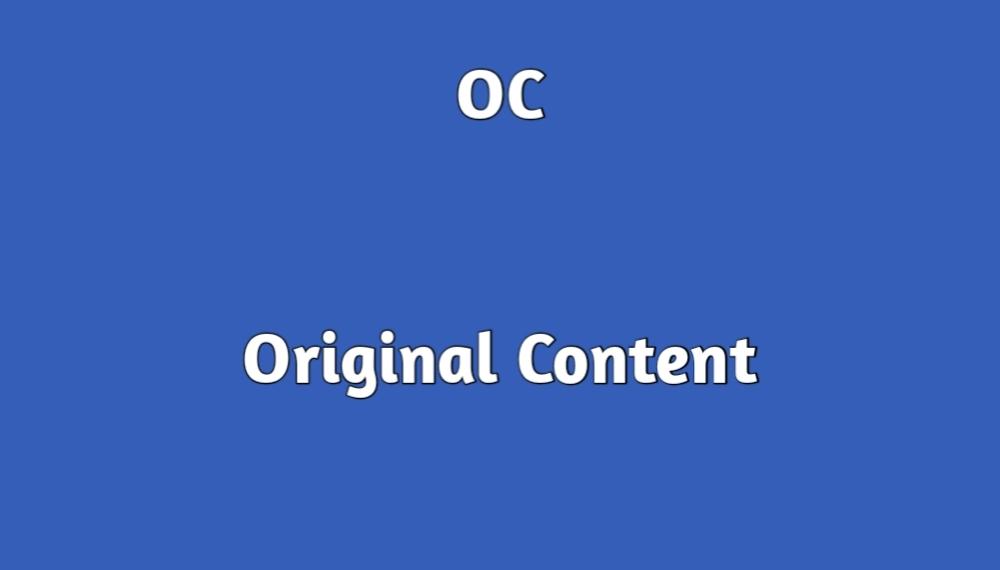 OC full form in memes original content