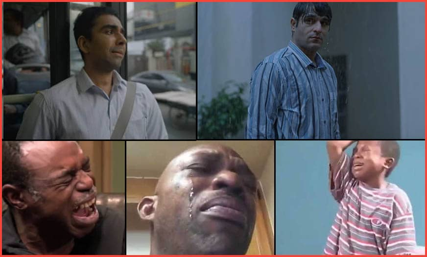 Crying video meme templates collection