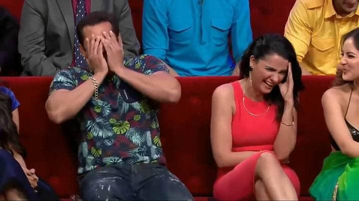 Salman Khan Laughing Hiding Face Video Meme Template
